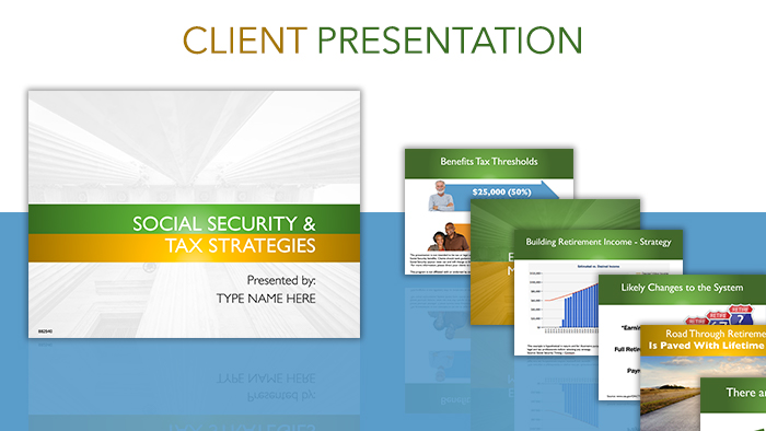 Social Security and Tax Strategies Client Presentation